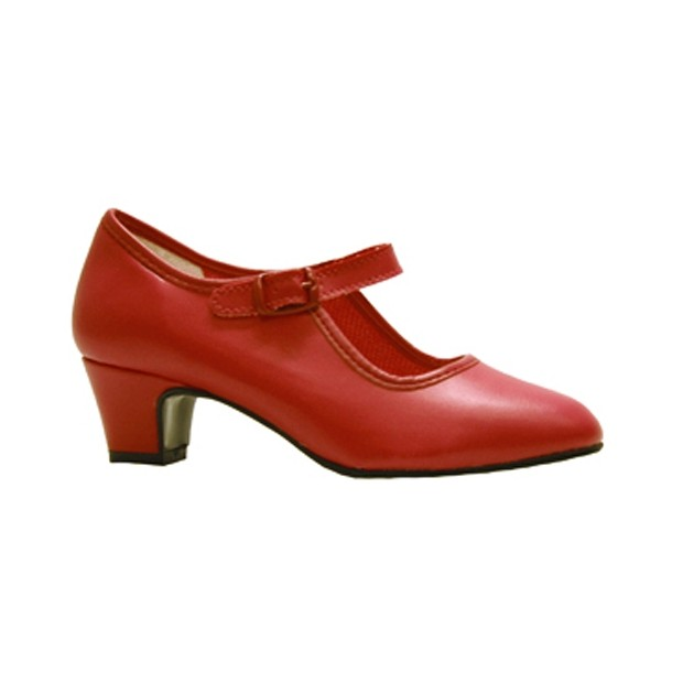 Flamenco shoe Red Coral Leatherette