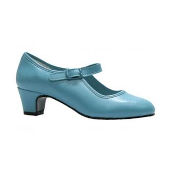 Flamenco Shoe Turquoise Leatherette