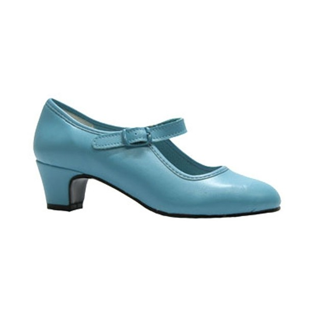 Turquoise Polyester Flamenco Shoe