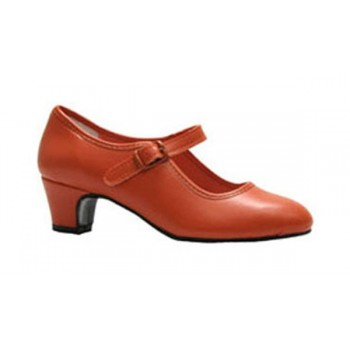 Flamenco shoe Orange Leatherette
