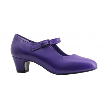 Flamenco Shoe Purple Leatherette