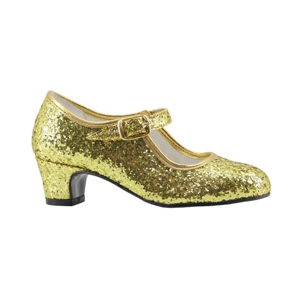 Glitter Gold Flamenca Shoe