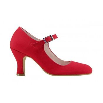 Flamenco Red Canvas Shoe