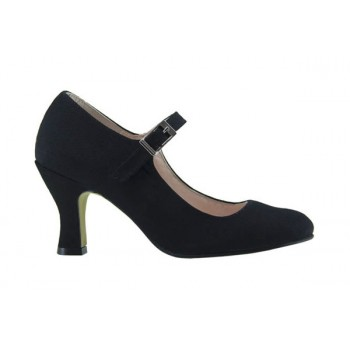 Black Canvas Flamenco Shoe