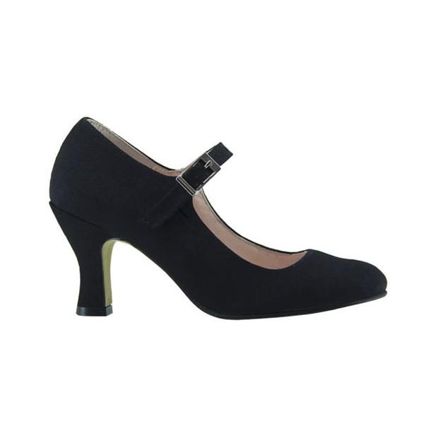 Black Canvas Flamenco Shoe