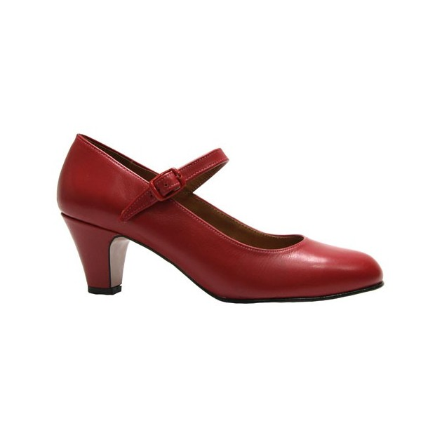 Flamenco shoe Red leather