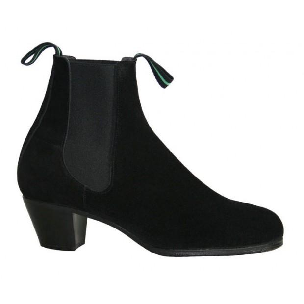 Black Suede Flamenco Boot 39/46