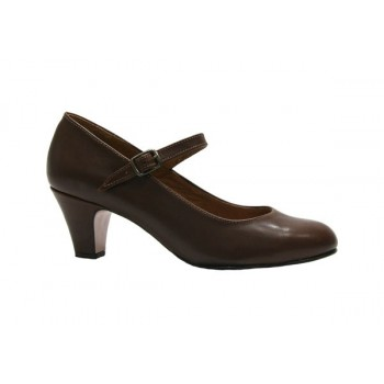 Brown Leather Flamenca Shoe