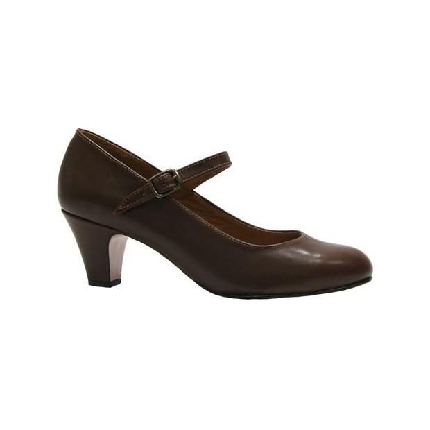 Brown Leather Flamenca Shoe