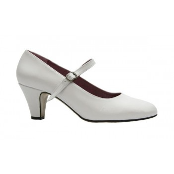 White Leather Flamenca Shoe