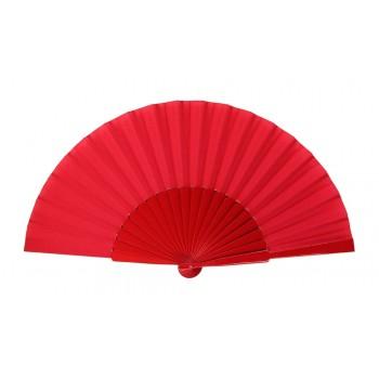 Red Pericón wooden hand-held fan (31 cm)