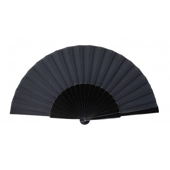Black Pericón wooden hand-held fan (31 cm)