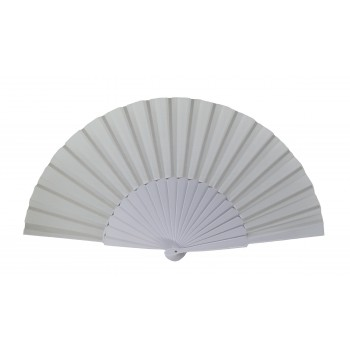 White Pericón wooden hand-held fan (31 cm)