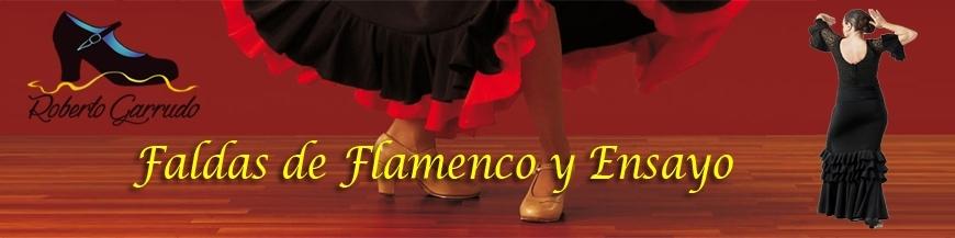 Faldas de flamenco y ensayo para niñas